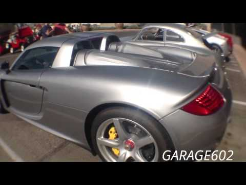 Porsche Carrera GT Supercar Rev's in at Cars and Coffee Scottsdale