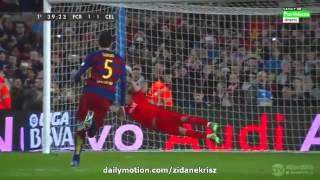 Melhores Momentos - Barcelona 6 x 1 Celta De Vigo - 14/02/2016