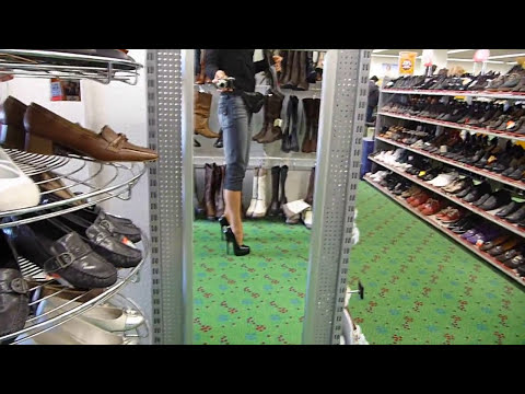 High heels shoe shopping Video