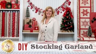 DIY Stocking Advent Garland & Christmas Place Settings | a Shabby Fabrics Sewing Tutorial