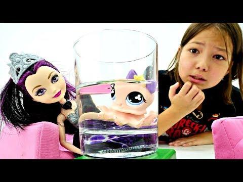 #Куклы Эвер Афтер Хай разбирают вещи своих ПИТОМЦЕВ 🐙 Угадай! Игры для Девочек Ever After High