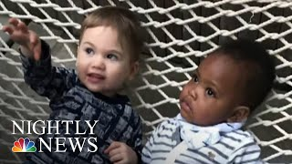 Sweet Video Of Toddlers Hugging Goes Viral | NBC Nightly News