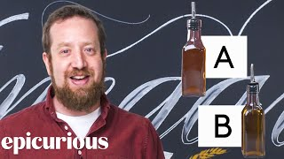 Vinegar Expert Guesses Cheap vs Expensive Vinegar | Price Points | Epicuirous