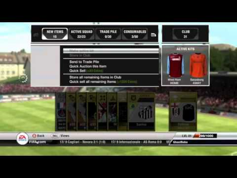 FIFA 12 Ultimate Team Walkthrough - (Buying Packs and Starting a Team)