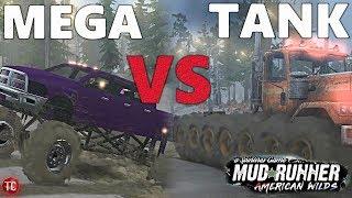 SpinTires MudRunner: TANK TRUCK vs MEGA RAM