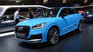 New 2019 Audi SQ2 Quattro blue @ Paris Motorshow 2018