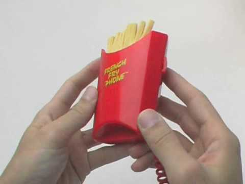 French Fry & Hamburger Phone - Sourcingmap - funny gadget