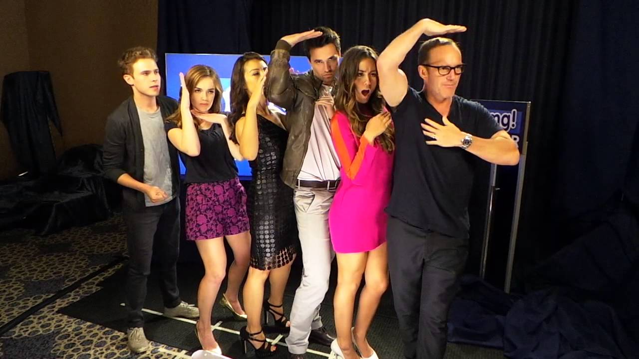 Agents of SHIELD having fun at