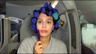 Full Glam Tutorial... On A Plane