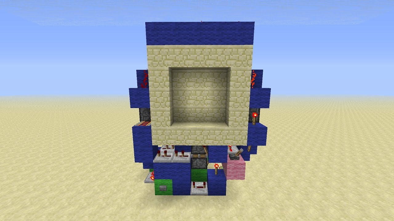 super compact 3x3 piston door minecraft redstone tutorial