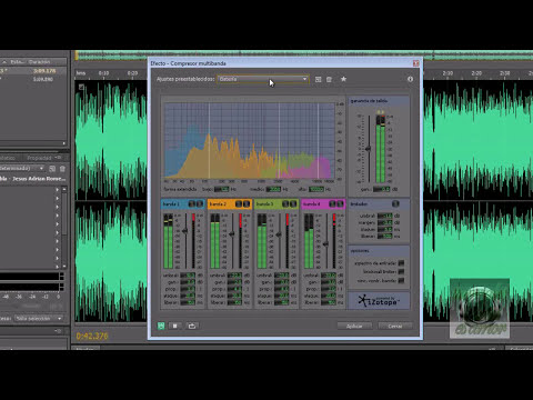 como quitarle la voz a una canción  con Adobe Audition CS5.5