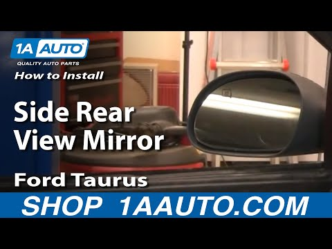 How To Install Replace Side Rear View Mirror Ford Taurus Mercury Sable 00-07 1AAuto.com