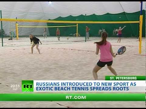 Tennis 'Revolution': Summer beach sport hits Russia's northern city of St. Petersburg