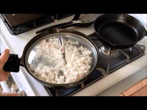 How to make Pop Corn in cast iron skillet!