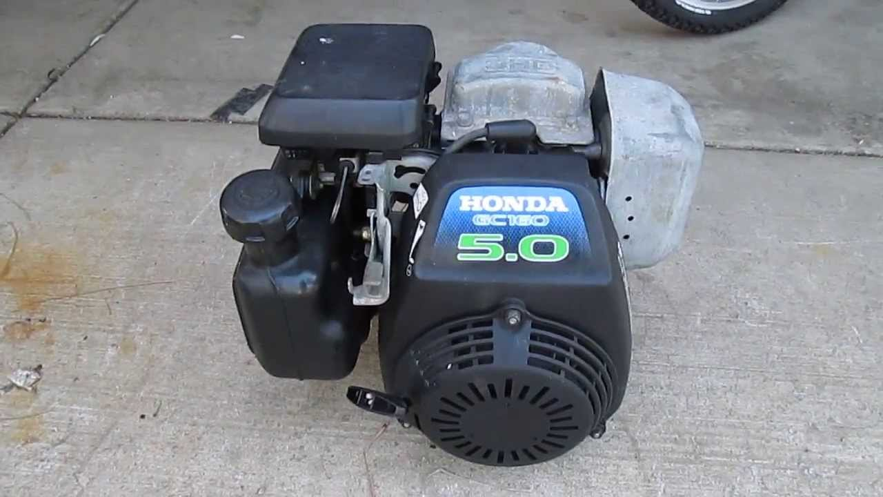 Honda Gc160 5 0 Hp 160cc Engine Cold Start Youtube