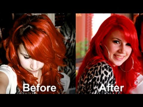 Bright Red Hair: NO PRE-BLEACHING!!!! - Tutorial using MAJICONTRAST