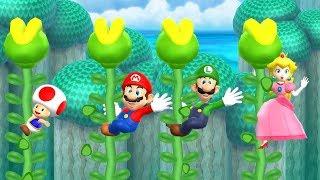 Mario Party 9 Garden Battle -  Toad vs Mario vs Luigi vs Peach| Cartoons Mee
