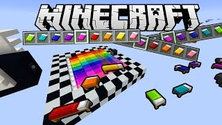 RAINBOW BED PARKOUR! (Minecraft)