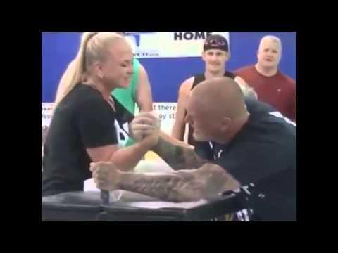 Sarah Bäckman beats a guy