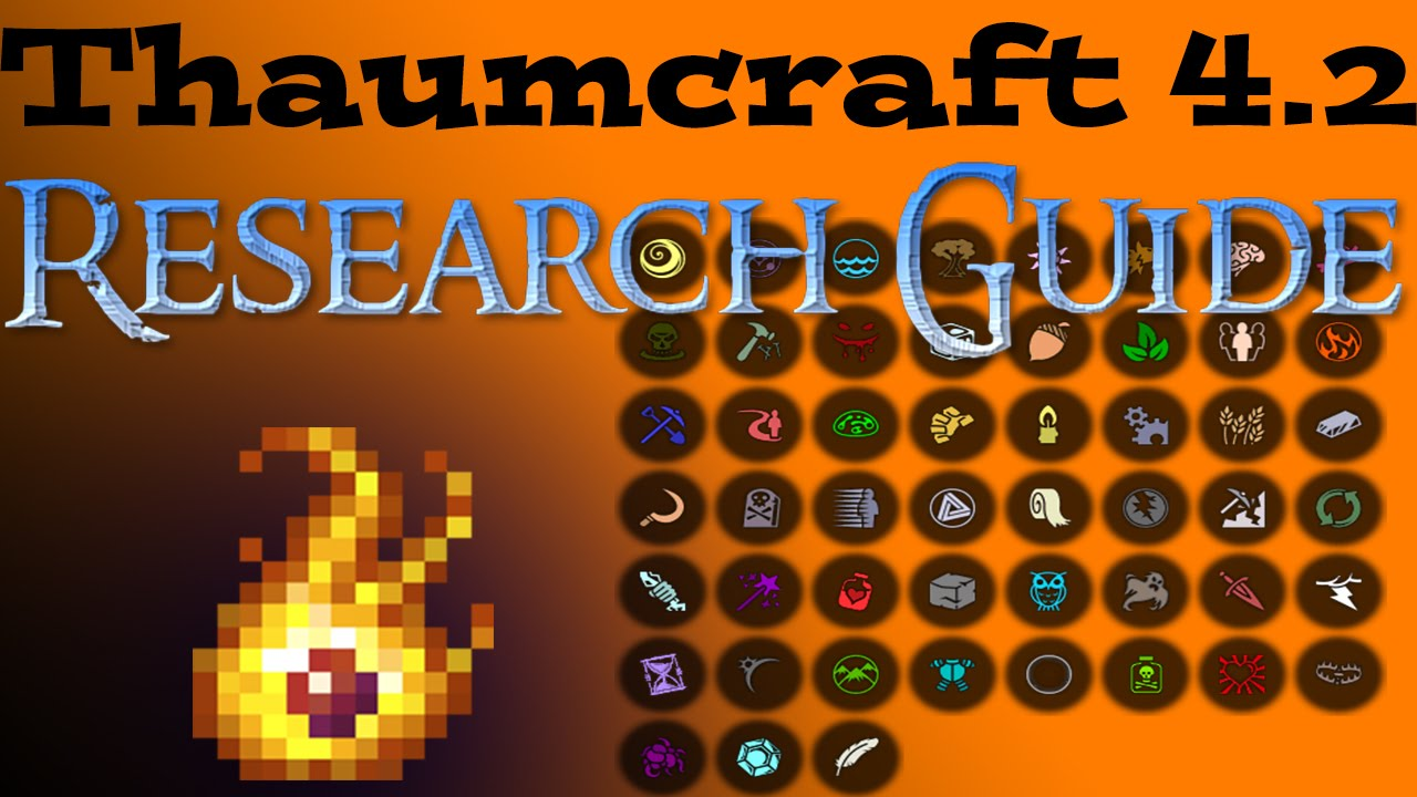 Thaumcraft 4.2 Aspect/Research Guide! - YouTube