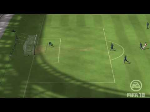 Fifa 10 - Screamer by Theo Walcott! Arsenal 2 - 0 Tottenham.