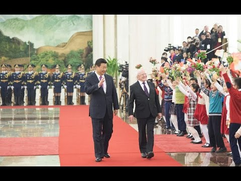 Presidents Xi Jinping  Michael D. Higgins meet in Beijing