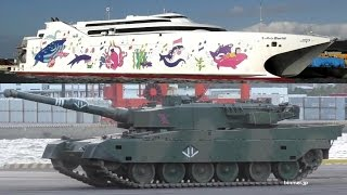 ナッチャンWorld大分入港・90式戦車九州上陸-2016 / NATCHAN WORLD - passenger/ro-ro cargo ship + Type 90 MBT