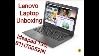 Lenovo Ideapad 130,  81H70059IN  i3 6th gen laptop Unboxing .