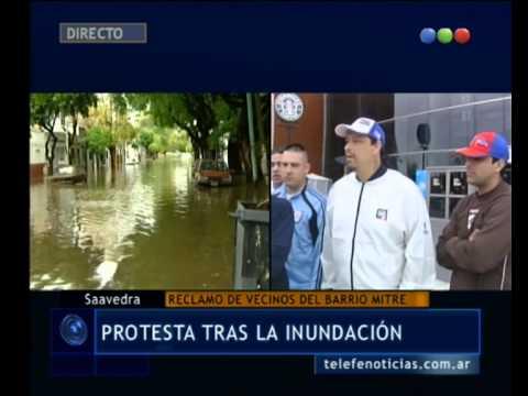 Protesta en el Barrio Mitre tras la inundación - Telefe Noticias