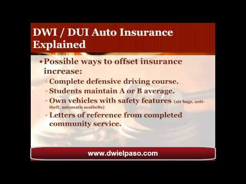 El Paso DWI Attorney Shares Insights on DWI Auto Insurance