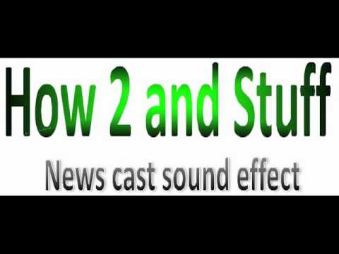 News Cast Sound Effect video