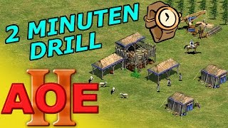 AOE 2 - Zwei Minuten Drill - German Tutorial Guide Strategie