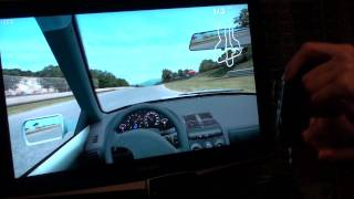 LFS Bluetooth + Motion Sensitive driving with PS3 Sixaxis joystick