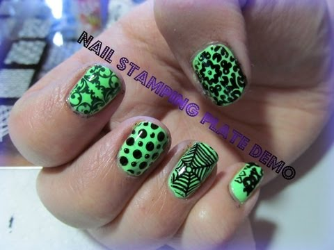 DRK-A Nail art stamping plate Demo and Review