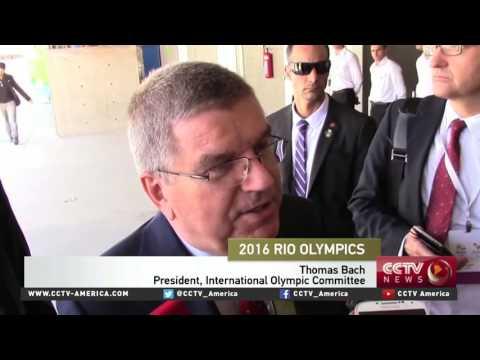 IOC President checks on preps for Rio Olympics