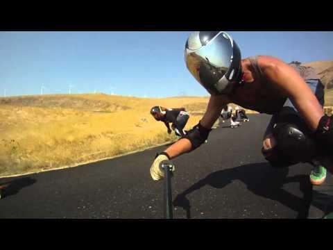 Longboarding: Stickcam Fail -  Maryhill Freeride