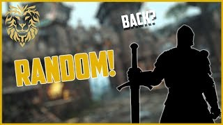[For Honor] What Happens when Shugoki Meets Warden? - Random Characters!