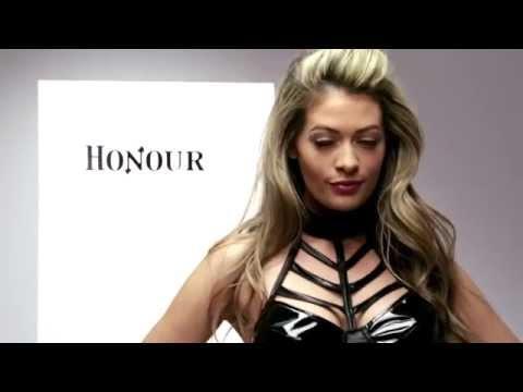 Honour Wetlook Medusa Cage and Collar Dress