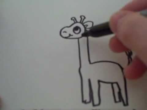 Как нарисовать жирафа