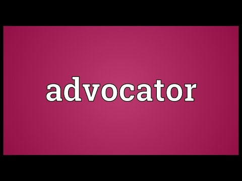 Header of Advocator