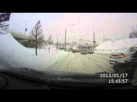 Minsk taxi crash save