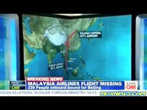 [FIRST NEWS REPORT FROM CNN] BREAKING! Malaysia Airlines Flight 370 With 239