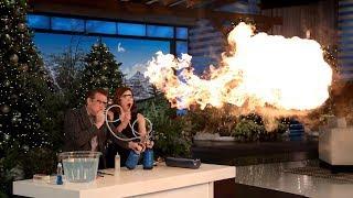 Steve Spangler's Science Experiments Took Ellie Kemper by Surprise