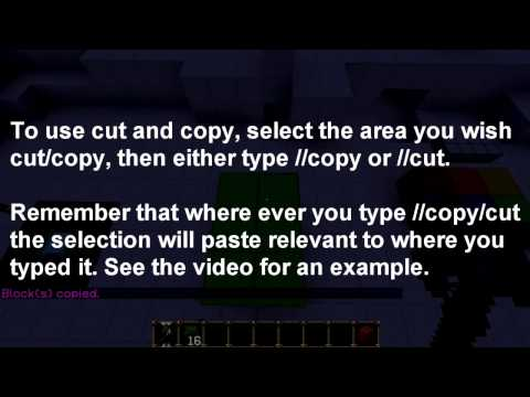 Minecraft World Edit 101; The Basics