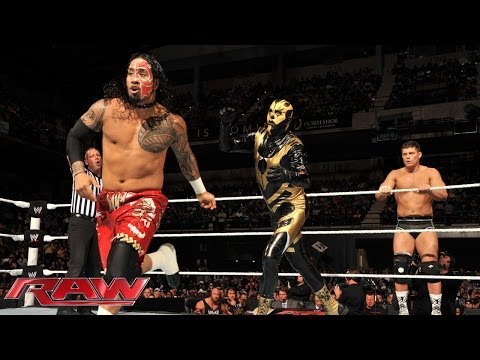 The Usos Vs. Cody Rhodes & Goldust: Raw, April 21, 2014 video