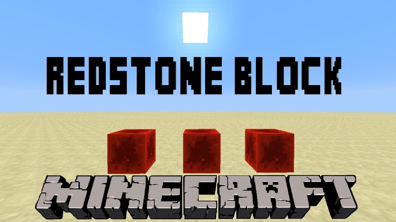 how to make redstone block minecraft