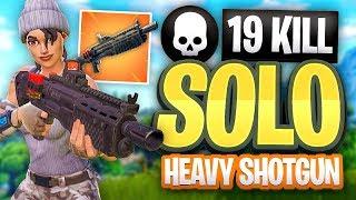 FORTNITE 19 KILL SOLO Heavy Shotgun Gameplay