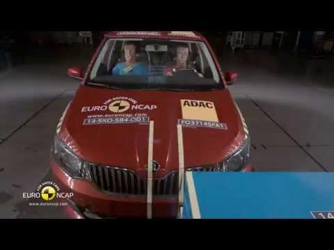 Euro NCAP Crash Test of Skoda Fabia 2014