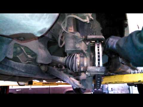 Front brake pad replacement 2003 Toyota Sienna Install Remove Replace How to