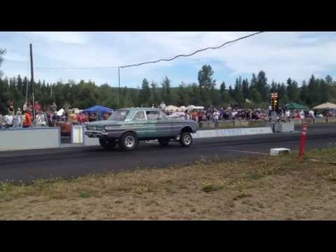 FORD FALCON VS. MODIFIED ROADSTER BILLETPROOF ERUPTION DRAGS TOUTLE, WA 2013